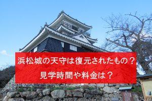 浜松城天守は復元?