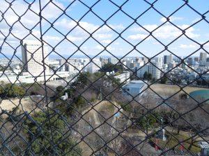 浜松城の天守展望台からの眺望