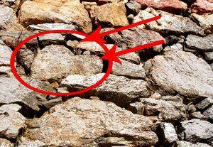 浜松城ハート型の石