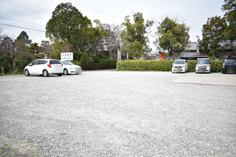 大安寺の駐車場