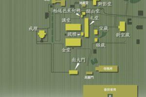 唐招提寺の境内案内図