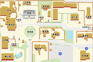 奈良・西大寺の境内案内図