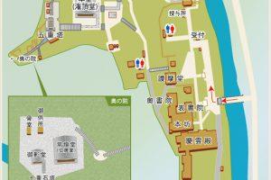 室生寺の境内案内図