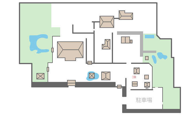 奈良・法華寺の境内案内図