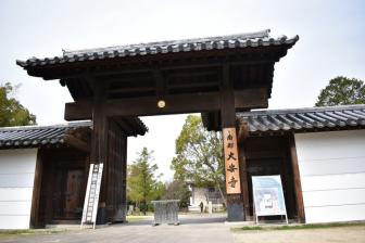 大安寺の南門
