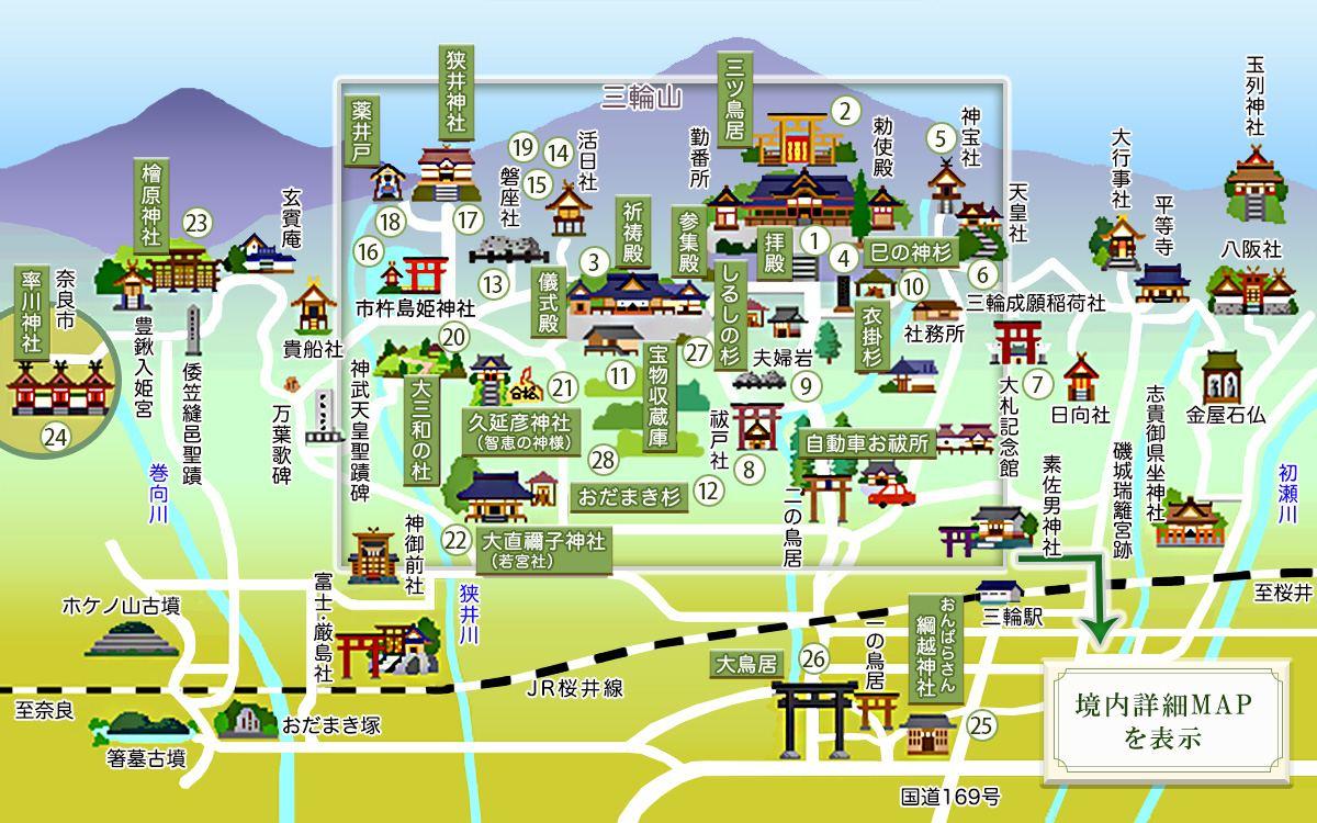 大神神社の境内案内図2