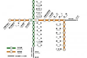 京都市営地下鉄路線図