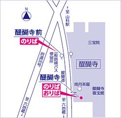 京急バス乗り場(醍醐寺)
