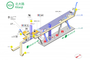 北大路駅構内図