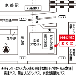 バス乗り場(京都駅八条口)