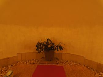 八瀬のかま風呂の内部