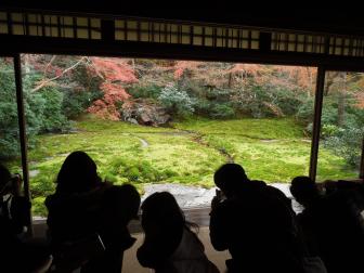 瑠璃の庭の額縁風(瑠璃光院)