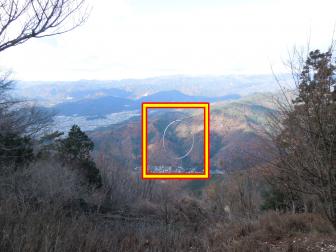 叡山ケーブル・ロープウェイ乗り換え場所からの景色