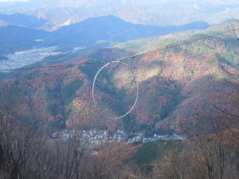 かわらけ投げ(叡山ロープウェイのロープ比叡駅前)