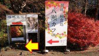 左折するとケーブル比叡駅