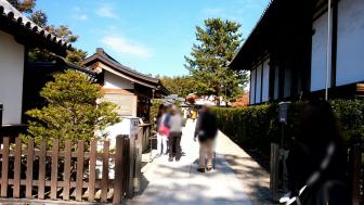 法隆寺の大宝蔵院の拝観入口
