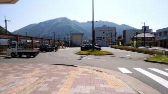 JR和田山駅のロータリー