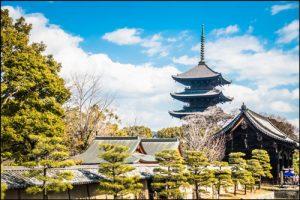 東寺の境内のアイキャッチ画像