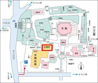 八坂神社の境内案内図(京都祇園)
