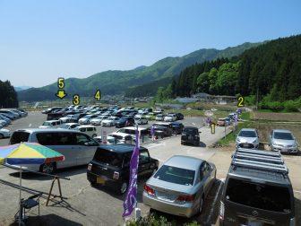 白井大町藤公園の駐車場空き待ち行列