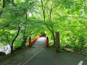 西明寺周辺の指月橋