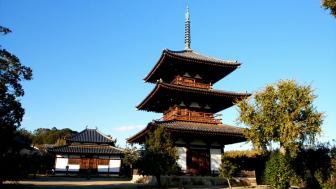 法起寺の三重塔