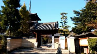 法輪寺の門前