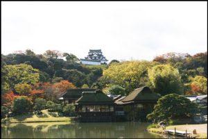 彦根城の玄宮園の紅葉アイキャッチ画像