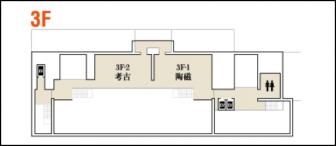 平成知新館3階のフロアマップ