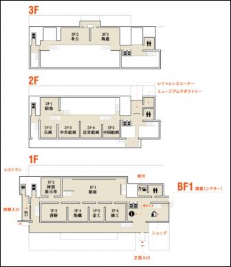 平成知新館のフロアマップ