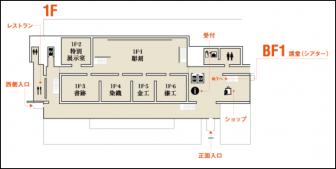 平成知新館1階のフロアマップ