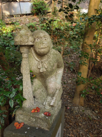 大豊神社の狛猿