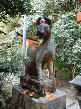 大豊神社の狐