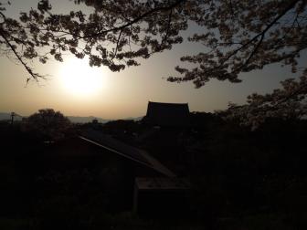 哲学の道の夕陽
