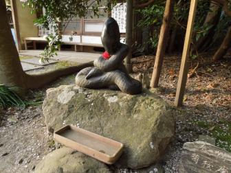 大豊神社の蛇