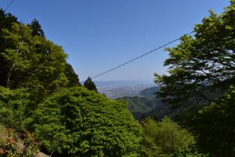 月輪寺境内からの眺め