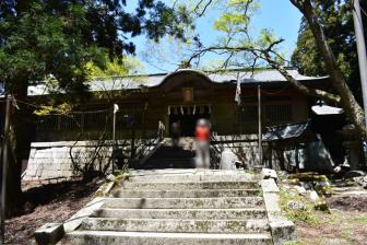 愛宕神社の本殿近く